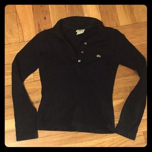Lacoste Black Long Sleeve Polo